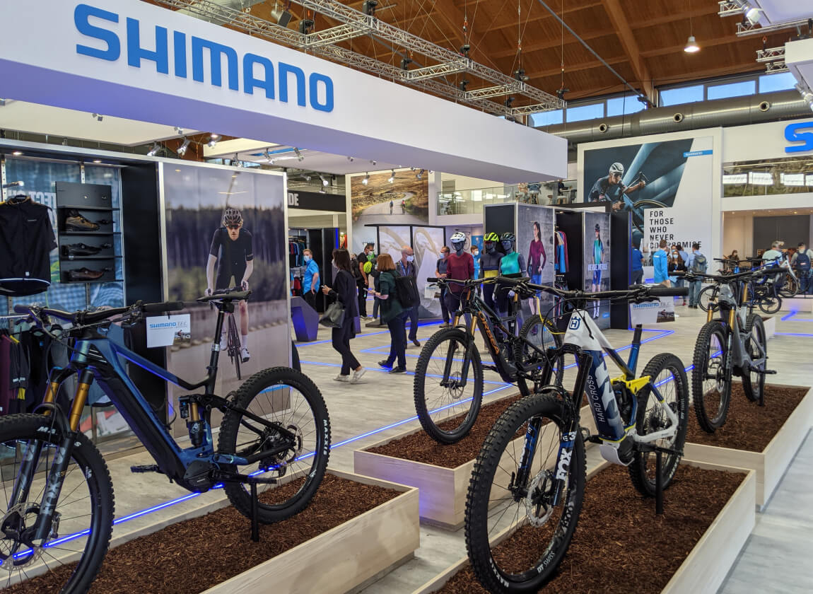 Of course I came to see the Shimano booth