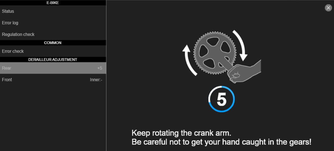 Adjust your rear derailleur turn the cranks