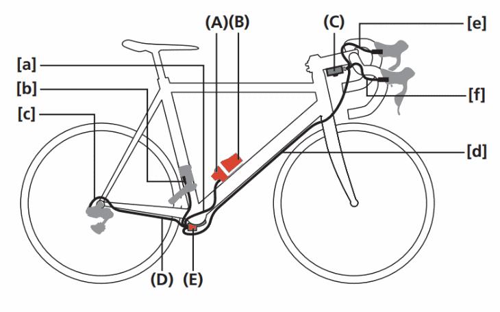 Building a Di2 bike - Wiring diagram external battery