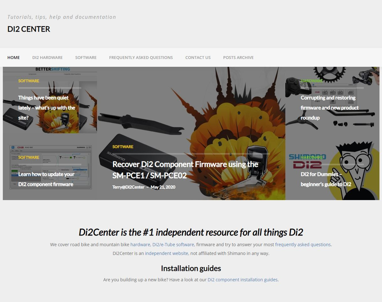 Image for New domain, new site, same Di2 content!