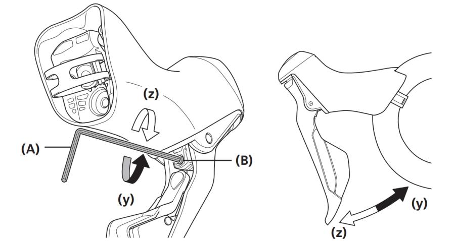 Hydraulic disc lever reach adjustment