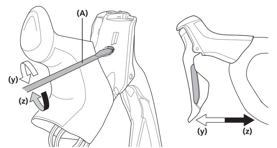 Rim lever reach adjustment