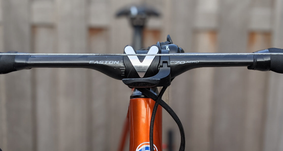 Install Di2 lever set height using brake wire