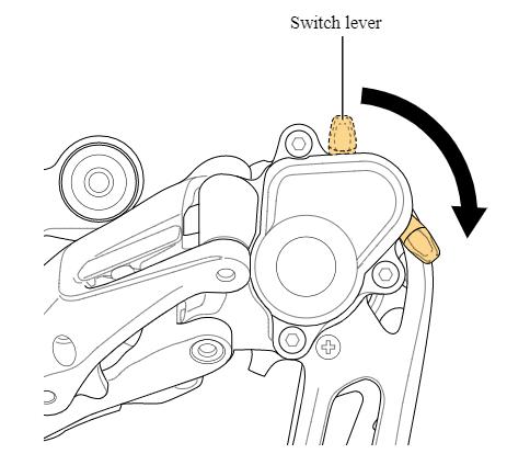 Clutch switch lever