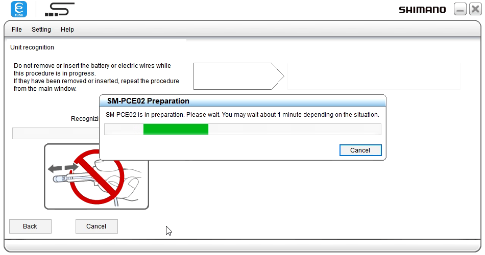 restore firmware detecting pce02