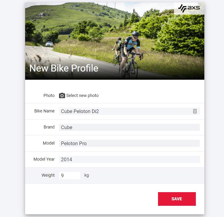 SRAM AXS web add bike