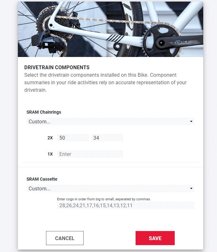 SRAM AXS web components