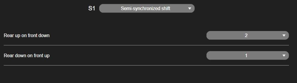 Semi-synchro settings