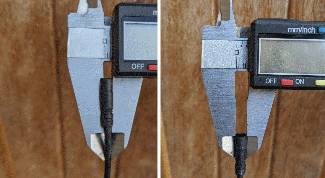 Di2 plug diameters