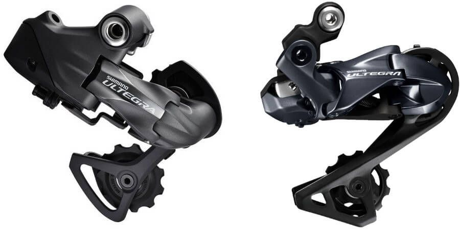 Old 6770 derailleur vs new R8050 rear derailleur