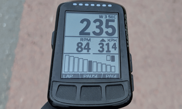 gear information on a wahoo elemnt BOLT